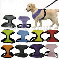 Soft Breathable Dog Harness Nylon Mesh Vest Harness for Dogs Puppy Cat Pets Chest Strap Leash 6 Colors 5 Sizes.