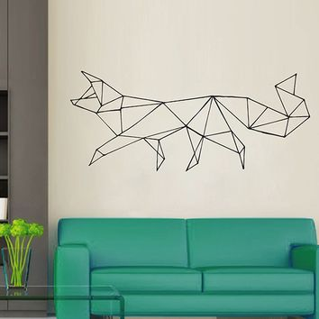 ik2950 Wall Decal Sticker animal fox living room bedroom