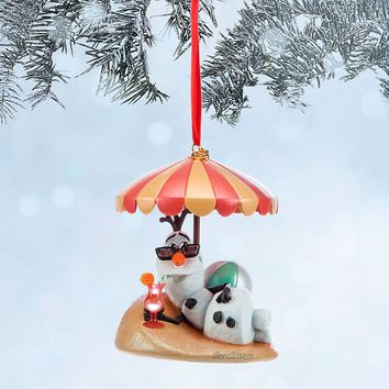 Licensed cool NEW 2014 Disney Store Frozen Olaf Snowman Sketchbook Christmas Holiday Ornament