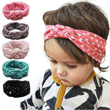 BABY hairstyles Hand-knit Children Accessories Baby Girl Cross Stretch Cute Kids Cotton Headband Bebes Acessorios Para Cabelo