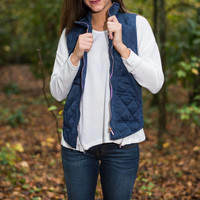 Shape Warm Or Fashion Vest, Navy