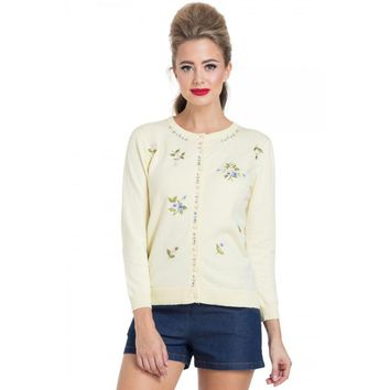 Floral Print Cardigan Sweater