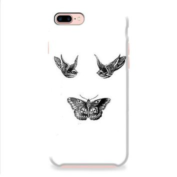 Birds And Butterfly Tattoos iPhone 8   iPhone 8 Plus Case