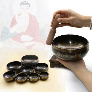 New Arrivials Buddhism Accessory Tibetan Meditation Hammered Alms Bowl Yoga Copper Sound Therapy Chakra Singing Bowl