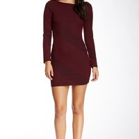 Soprano | Soprano Long Sleeve Knit Stitch Sweater Bodycon Dress | Nordstrom Rack