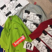 """Supreme x Akira"" Unisex Personality Casual Comics Pattern Print Short Sleeve Couple Cotton T-shirt Top Tee"
