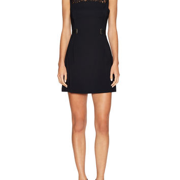 French Connection Women's Alina Dress with Lace Detail - Black -