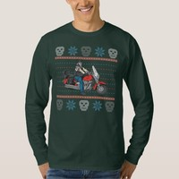 Old Biker Skulls Motorcycle Ugly Christmas Sweater T Shirt