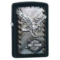 Zippo 28485 Harley-Davidson Iron Eagle Black Matte Lighter