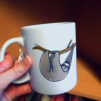 Sloth Mug, Ceramic, Illustrated