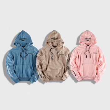 Supreme Hooded Sweatshirt Men Womens Smoking Time Hip Hop Tracksuit Chicago Cubs Fear of God Palace Walking Dead Trasher Hoodie