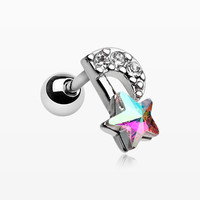 Celestial Star Melody Cartilage Tragus Earring