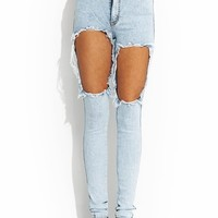 Hole Lotta Leg Distressed Jeans
