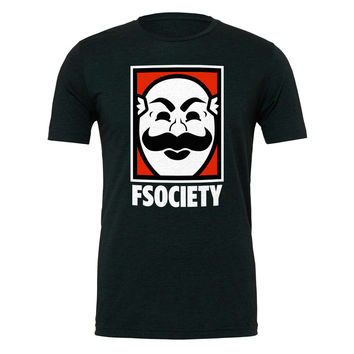 Mr Robot F Society Unisex T-Shirt