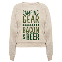 CAMPING GEAR, BACON, & BEER