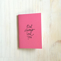 Small Notebook: Valentine's Day, Owl, Cute, Pink, Valentine, Cute Notebook, Love, Valentine, Gift, For Her, For Him, Unique, VV25