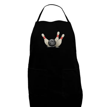 Bowling Ball with Pins Plus Size Dark Apron