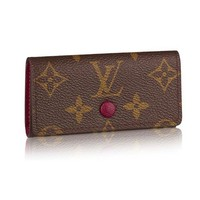 PEAPV2S Louis Vuitton Monogram Canvas 4 Key Holder Wallets M60705 Made in France