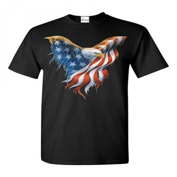 American Eagle Flag Tee Shirt