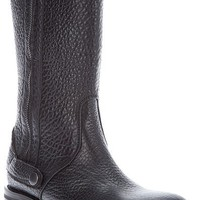 Jil Sander Textured Biker Boot in Black
