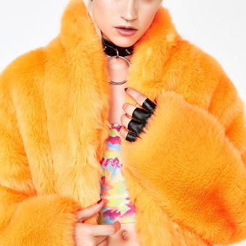 Juiced Plush Funk Fur Coat