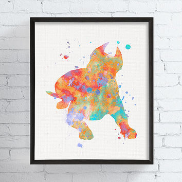 Pit Bull Art Print, Pit Bull Wall Decor, Pit Bull Gifts, Pit Bull Ornament, Pitbull Watercolor, Pitbull Art Print, Dog Painting, Dog Poster