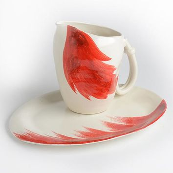 Red and White Serving Pieces Bundle