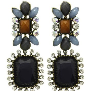 Navy Blue Shourouk Dangle Earring