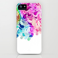 Rainbow Watercolor Paisley Floral iPhone & iPod Case by Micklyn