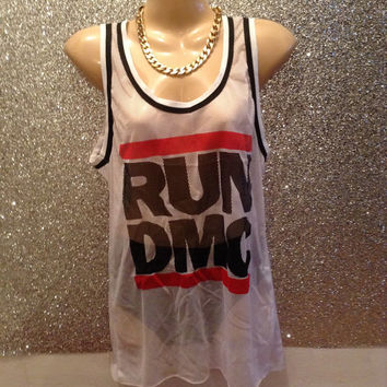 Fisnet netted run dmc vest top minidress festival