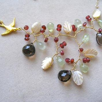 Cranberry Branch - Necklace - Garden Collection