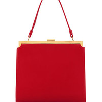Mansur Gavriel Elegant Leather Top-Handle Bag