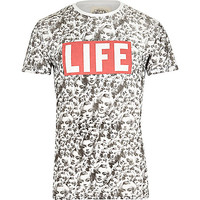 River Island MensWhite Worn By Marilyn Monroe print t-shirt