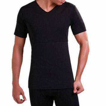 Men's Thermal Body Shaper Slimming Shirt Slim Men Shaper Vest Shirt Corset Underwear fat belly Slimming Compression Body Shaper