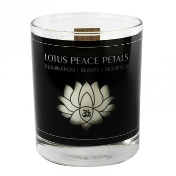 LOTUS PEACE PETALS Large Candle, 9.75 Oz