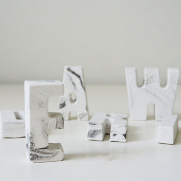 Marble Letters