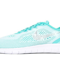 Girls' Nike Free RN - Crystallized Swarovski Swoosh - Big Kids' (3.5y-7y) - Tiffany