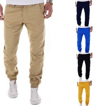 Plus size M-XXL Men's Cargo Brand Pants Casual Mens Pant Multi Pocket cargos trousers Men Long pant
