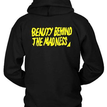 ESBH9S The Weeknd Beauty Behind The Madness Title Hoodie Two Sided