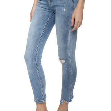Flying Monkey Distressed Hem Crop Skinny