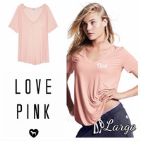 Victorias Secret Pink Super Soft Vneck Tee