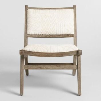 Ivory Tribal Jacquard Gunnar Chair
