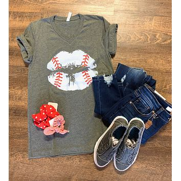 Baseball Lips Graphic Tee (S-2XL)