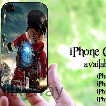 Iron Man Lego movie Design hard case for iPhone 4 case, iPhone 4s case, iPhone 5 case, iPhone 5s case, iPhone 5C case
