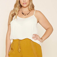 Plus Size Crochet-Trim Shorts | Forever 21 PLUS - 2000176851