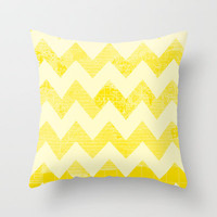 Chevron World Throw Pillow by Catherine Holcombe