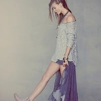 Free People Womens Tulle Maxi Slip