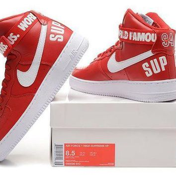 DCCKU62 Originals Nike AIR FORCE One 1 HIGH SUPREME SP AF1 HI Running Sport Casual Shoes 698696-610 Sneakers