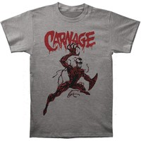 Carnage (Marvel Comics) Men's  Carnage Action Pose Slim Fit T-shirt Heather