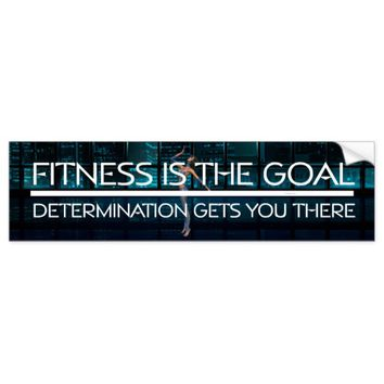 TOP Fitness Goal Bumper Sticker